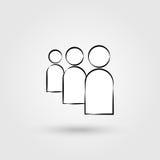 Gebruikers vlak pictogram Royalty-vrije Stock Afbeeldingen
