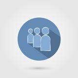 Gebruikers vlak pictogram Stock Afbeeldingen