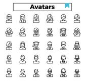 Gebruikersavatar pictogramreeks vector illustratie