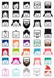 Gebruikersavatars, de vectorreeks van het mensenpictogram Royalty-vrije Stock Fotografie
