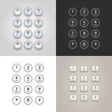 Gebruikersinterfacetoetsenbord voor telefoonreeks Stock Foto