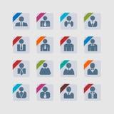 Gebruikerspictogrammen Royalty-vrije Stock Afbeelding
