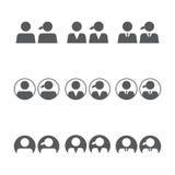 Gebruikerspictogrammen Stock Afbeelding