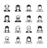 Gebruikerspictogrammen en Mensenpictogrammen Stock Foto