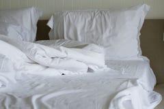 Gebruikt bed Royalty-vrije Stock Foto