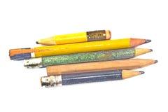 Gebruikt houten potlood Stock Afbeeldingen