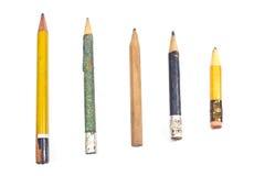 Gebruikt houten potlood Stock Afbeelding
