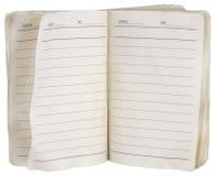Gebruikt notitieboekje Royalty-vrije Stock Afbeelding