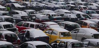 Gebruikt parkeerterrein Royalty-vrije Stock Fotografie