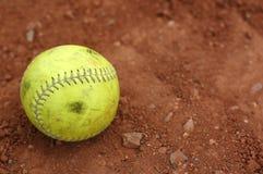 Gebruikt softball, goed Royalty-vrije Stock Afbeelding