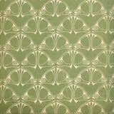 Gebruikt uitstekend behang in groen Stock Afbeelding