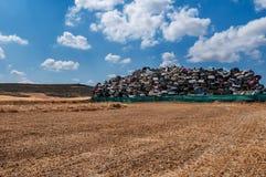 Gebruikt verlaten auto's recycling royalty-vrije stock foto