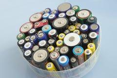 Gebruikte aa-Batterien Royalty-vrije Stock Foto's