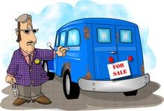 Gebruikte autoverkoop Royalty-vrije Stock Afbeelding