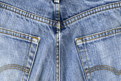 Gebruikte blauwe broek Stock Afbeelding