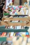 Gebruikte boekverkoop Stock Foto's