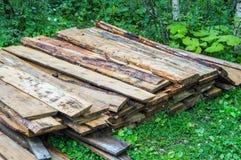 Gebruikte brand houten stapel royalty-vrije stock fotografie