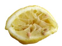 Gebruikte citroen royalty-vrije stock foto
