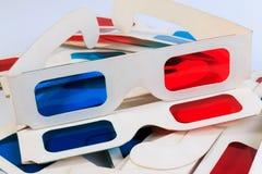 Gebruikte 3D document glazen Royalty-vrije Stock Afbeeldingen