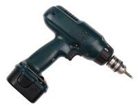Gebruikte draadloze schroevedraaier/boor stock foto's