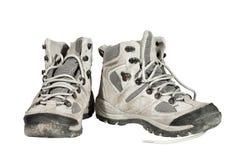 Gebruikte en vuile sportschoenen Stock Foto's