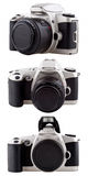 Gebruikte filmcamera die op wit wordt geïsoleerdr. Royalty-vrije Stock Afbeelding