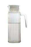 Gebruikte glaskruik met half schoon water Royalty-vrije Stock Foto's