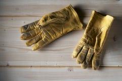 Gebruikte handschoenen Stock Foto's