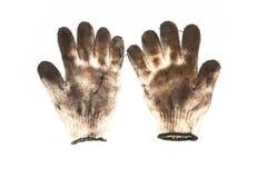 Gebruikte handschoenen Stock Foto