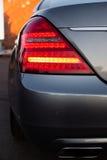Gebruikte Mercedes-Benz-s-Klasse S350 lange (W221) autotribune op een stree Stock Afbeelding