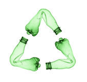Gebruikte plastic fles Stock Foto