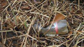 Gebruikte plastic fles Stock Afbeelding