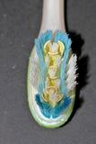 Gebruikte tandenborstel Royalty-vrije Stock Foto