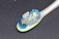 Gebruikte tandenborstel Stock Afbeelding