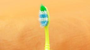 Gebruikte tandenborstel Royalty-vrije Stock Foto's