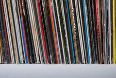 Gebruikte vinylverslagen Stock Foto's