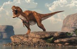 Gebrultyrannosaurus Rex door een Dor Meer stock illustratie
