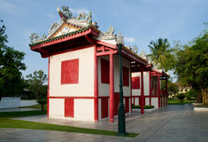 Gebäude der chinesischen Art an Knall-PA innen, Thailand Stockfoto