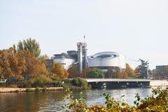 Gebäude des Europäischen Gerichtshofs für Menschenrechte Lizenzfreie Stockfotos