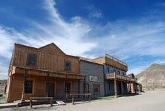 Gebäude in einer alten amerikanischen Stadt Stockbild