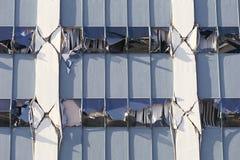 Gebäude mit gebrochenen Support Stockbilder