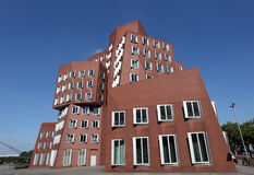 Gebäude Neuer Zollhof in Dusseldorf Lizenzfreie Stockbilder