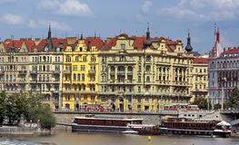 Gebäude von Prag Stockfotografie