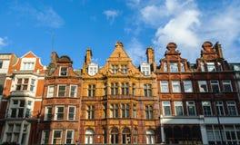 Gebäudefassade in London Stockbilder