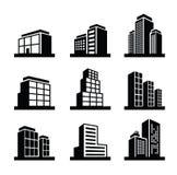Gebäudeikone Lizenzfreie Stockbilder