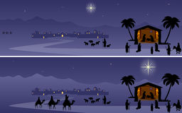 Geburt Christi-Fahnen Stockfotografie