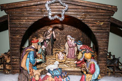 Geburt Christi scne Stockfoto