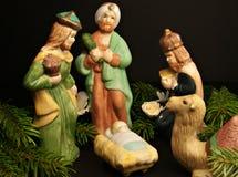 Geburt Christi-Szene Stockbild