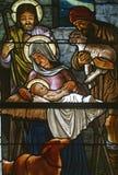 Geburt Christi-Szene lizenzfreies stockfoto