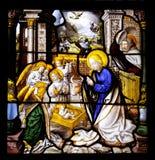 Geburt Christi-Szene Stockfotografie